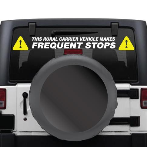 Rural Carrier US Mail Frequent Stops Vinyl Decal Kit for Windows, Tailgates, and Bumpers - Wholesale Magnetic Signs