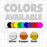Color selections available for USDOT Stickers for trucks