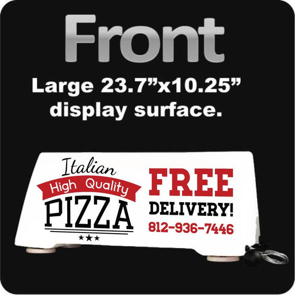 Pizza Delivery Rooftop Car Sign | We Deliver Pizza Car Topper | Magnetic - Wholesale Magnetic Signs