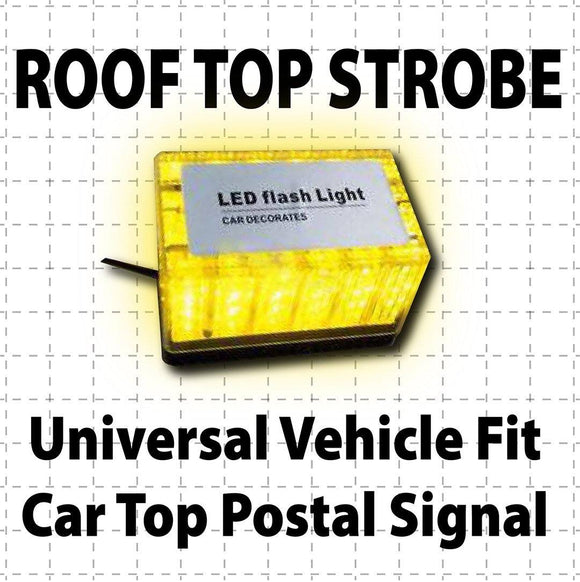 Magnetic Roof Top LED Strobe Light Amber Flashing - Wholesale Magnetic Signs