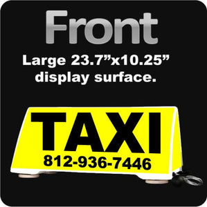 Taxi Cab Rooftop Car Sign | Cab Driver Car Topper | Magnetic Mount - Wholesale Magnetic Signs