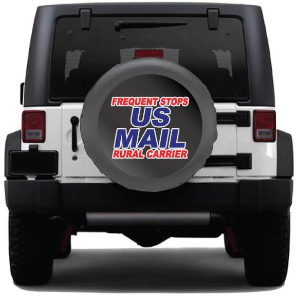 us mail tire cover sticker frequent stops rural carrier sign