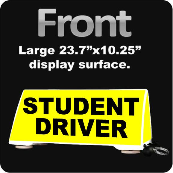 Student Driver Rooftop Car Sign | Student Driver Car Topper | Magnetic Mount