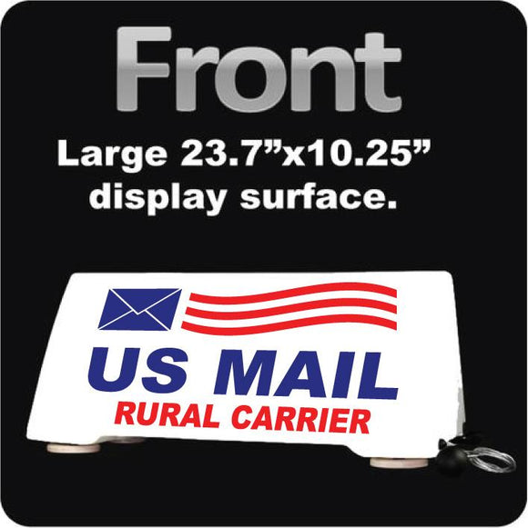 US Mail Carrier Rooftop Car Sign | Postal Mail Delivery Car Topper | Magnetic Mount