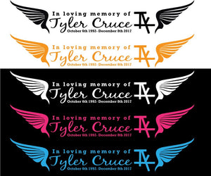 IAK- in memory of Tyler Cruce Adhesive Die Cut Vinyl Decal - Wholesale Magnetic Signs