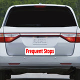 frequent stops magnet for bumper of car