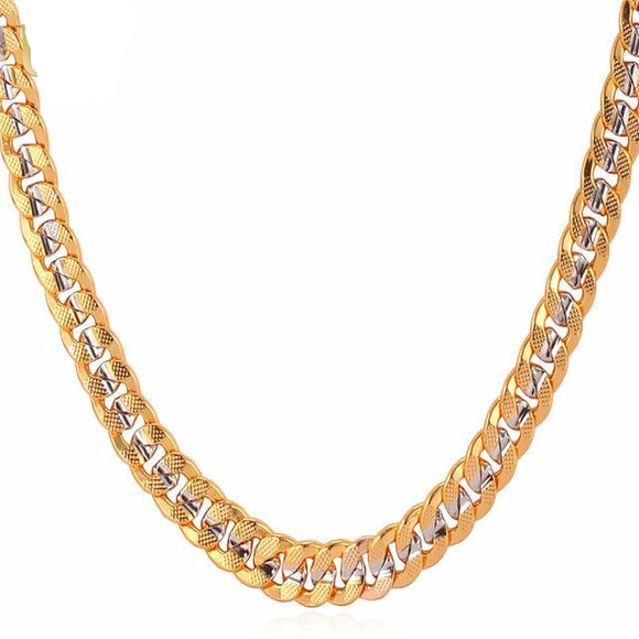 Premium Custom Two Tone Cuban Link Necklace