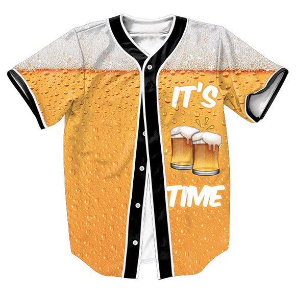 It's Beer Time Baseball Jersey