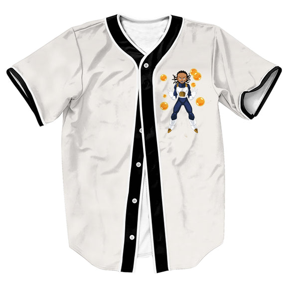 Boondocks Super Saiyan Riley Baseball Jersey