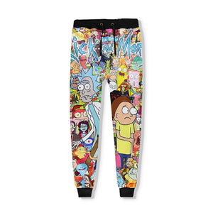 RIck And Morty Whole Squad Sweatpants