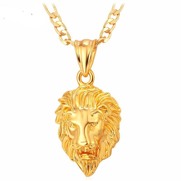 Custom Size and Color Lion Pendant Necklace Combo