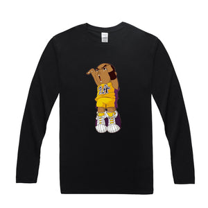 Kobe Cartoon Long Sleeve Shirt
