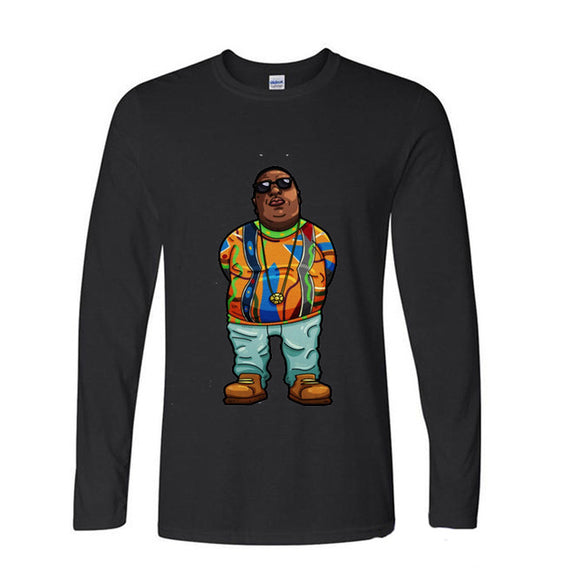 Notorious BIG Cartoon Long Sleeve Shirt