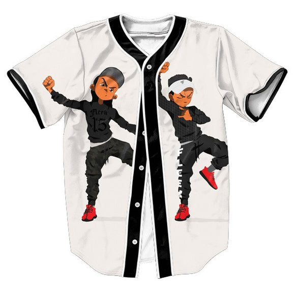 Boondocks Riley Dabbing Baseball Jersey