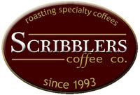 scribblers logo roasting specialty coffees since 1993