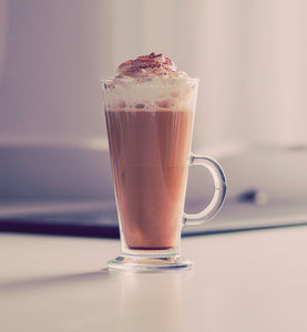 irish cream coffee topped with whipped cream