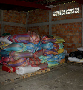 warehouse storing colombia pink bourbon coffee