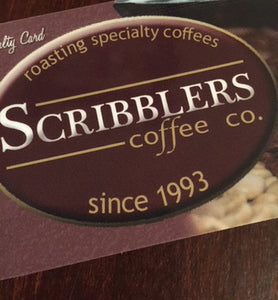 Scribblers Coffee Co. $50.00 Gift Card
