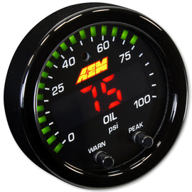 AEM Digital Gauges - X-Series Oil Pressure Gauge 0~100psi / 0~7bar - Xenocron Tuning Solutions