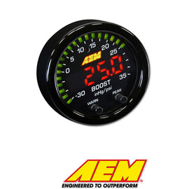 AEM X-Series Boost Pressure Gauge - Xenocron Tuning Solutions