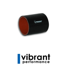 "Vibrant 4 Ply Silicone Sleeve, 3"" I.D. x 3"" long - Black - Xenocron Tuning Solutions"