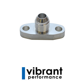 Vibrant Oil Drain Flange w/ integrated -10AN Fitting (for T3/T4 - Xenocron Tuning Solutions