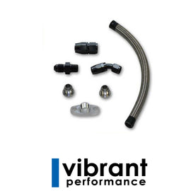 Vibrant Performance Universal Oil Drain Kit for T3/T4 Turbos - Xenocron Tuning Solutions