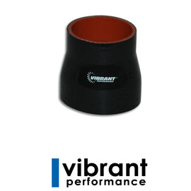 "Vibrant 4 Ply Reducer Coupling, 2.5"" x 3"" x 3"" long - Black - Xenocron Tuning Solutions"