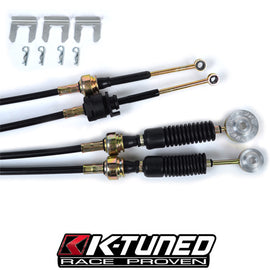 K-Tuned OEM Spec Shifter Cables w/Billet Bushings 8th Gen Si - Xenocron Tuning Solutions
