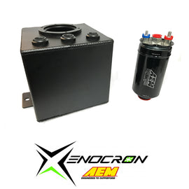Xenocron Single Surge Tank w/ AEM 380lph Fuel Pump Kit