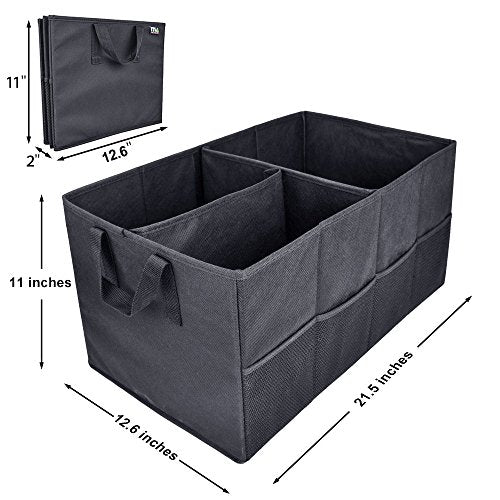 ... Car Trunk Storage Organizer; MIU COLOR Collapsible Cargo Storage  Containers For Car, Truck,
