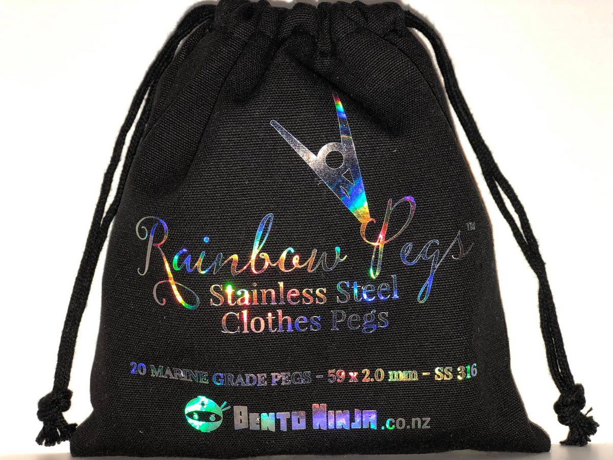 Rainbow metal Pegs nz
