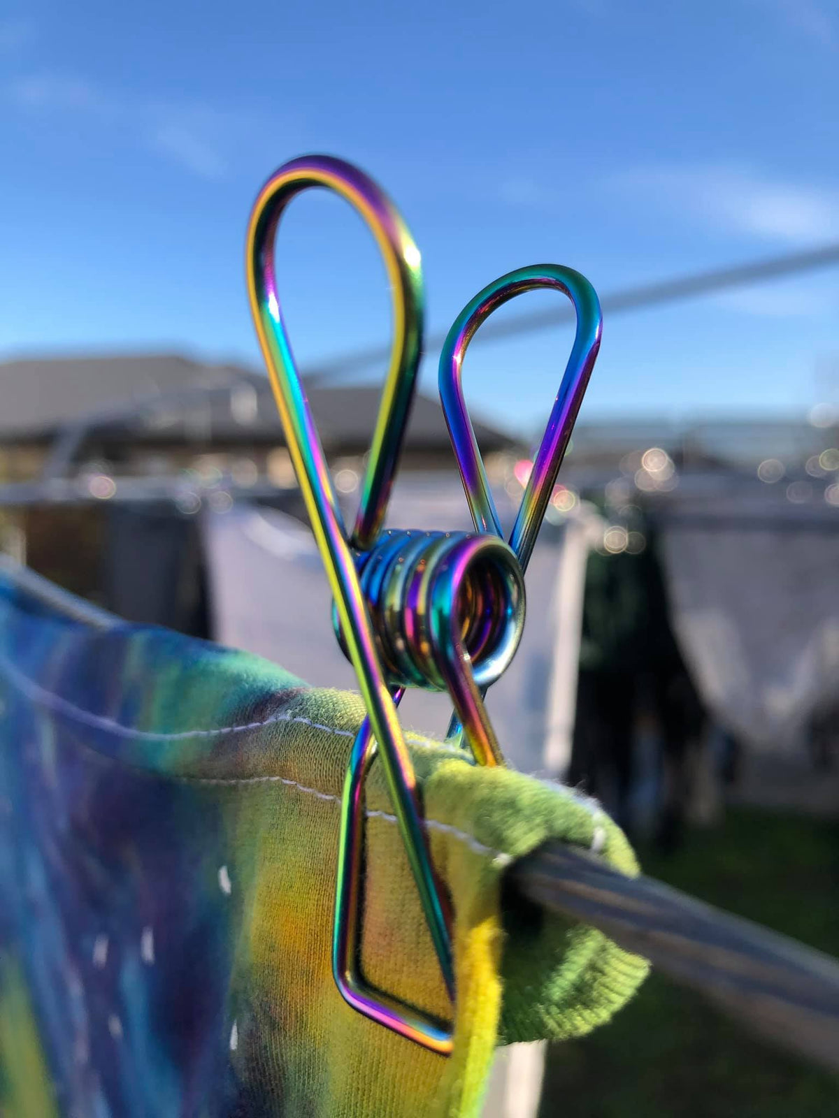Rainbow stainless steel Pegs nz