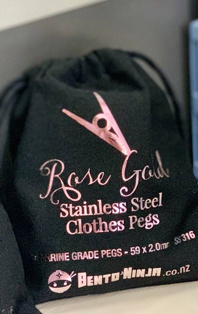 Rose gold stainless steel clothes pegs NZ
