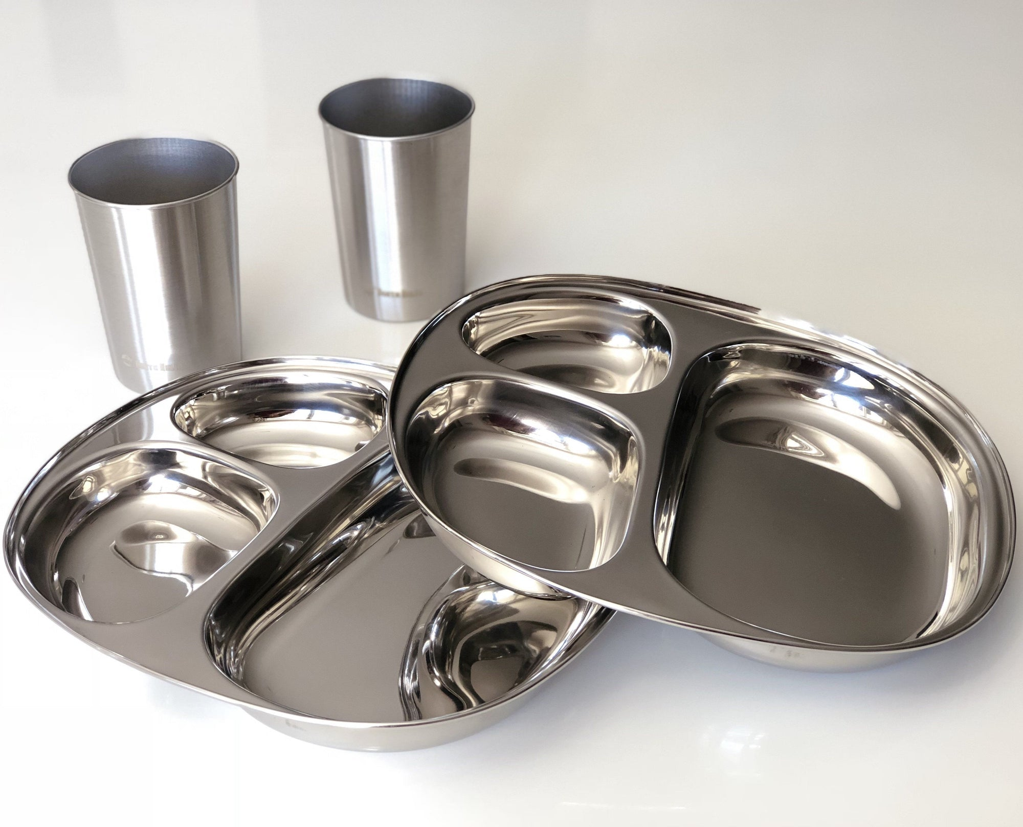 stainless steel camp meal plate set nz