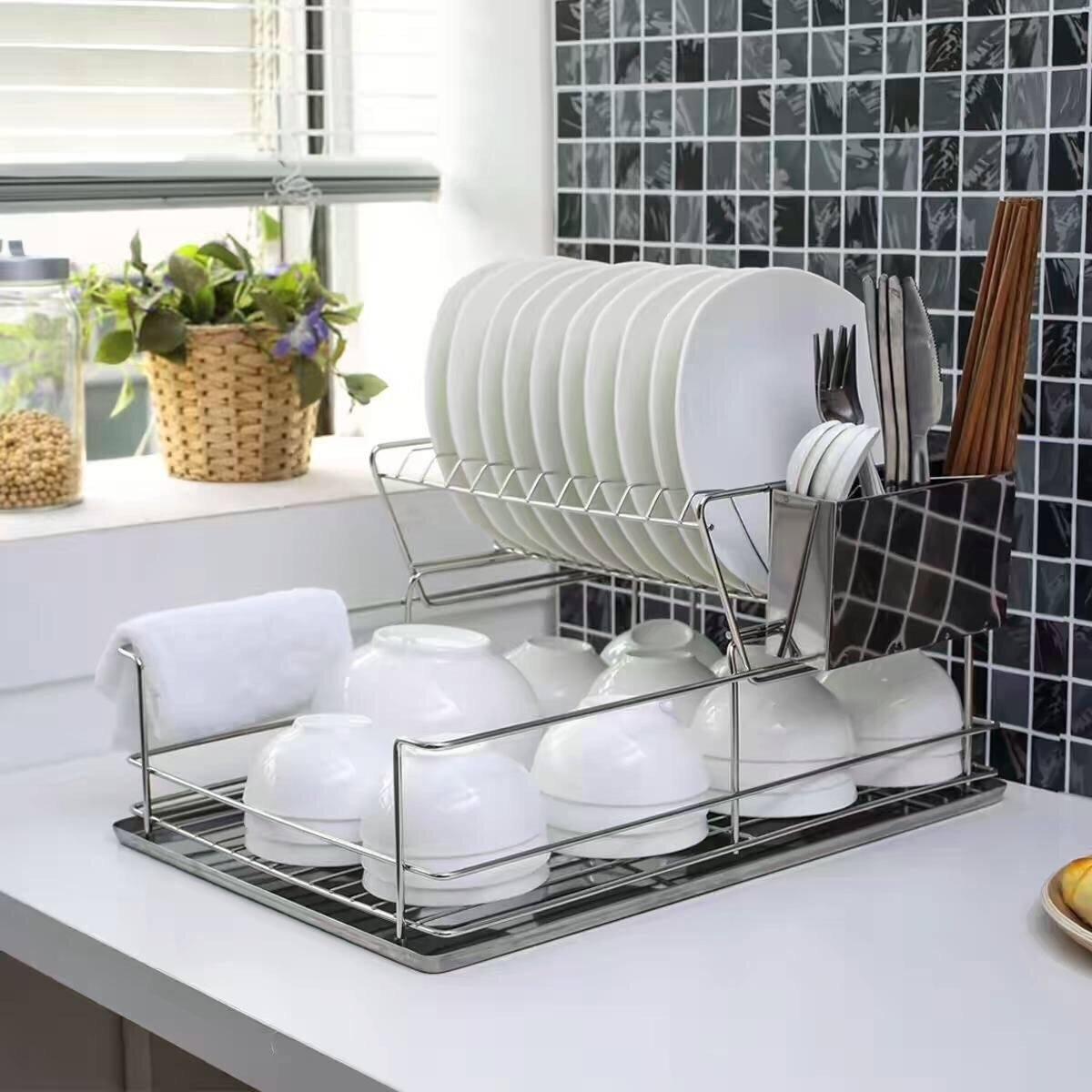 Durable stainless steel dish rack nz