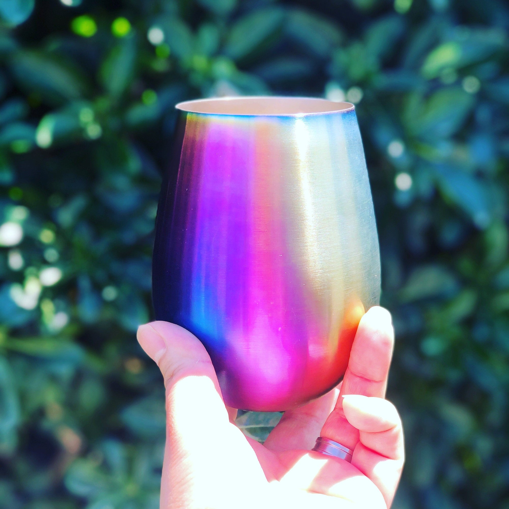 Stainless Steel Wine Glass Rainbow 540ml - BACK ORDER -