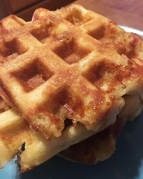 Maple Pearl Sugar Waffles