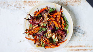 Carrot, Onion, Pecan, and Fennel Salad