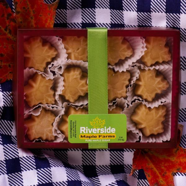 Image include 12-piece box of our maple candy