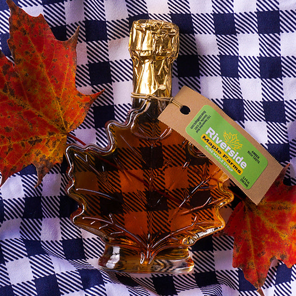 Pure Maple Syrup in Classic Glass Maple Leaf Bottle (All Grades)