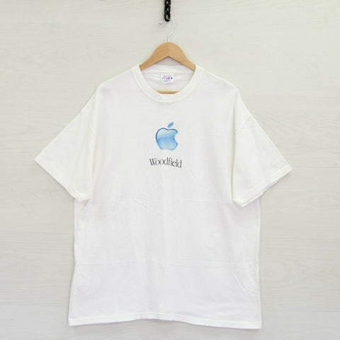 Vintage Apple Macintosh Shop Different Hanes Beefy T-Shirt XL White Woodfield