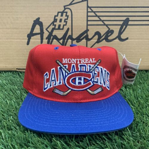 DS Vintage Montreal Canadiens NHL Maska #1 Apparel Snapback Hat Red OSFA