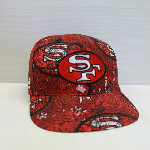 DS Vintage San Francisco 49ers Apex One All Over Print Snapback Hat Sz OSFA NFL
