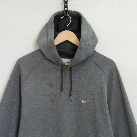 Vintage Nike Sweatshirt Hoodie Size 2XL Gray Embroidered Swoosh