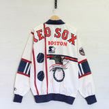 Vintage Boston Red Sox Starter Light Jacket Size XL All Over Print