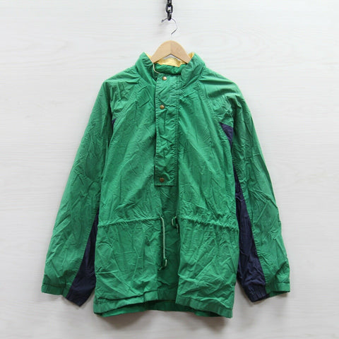 Vintage Gap Light Jacket Size Large Green Blue 1/2 Zip Pullover