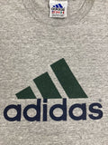 Vintage Adidas T-Shirt Size Large Gray 90s Three Stripes