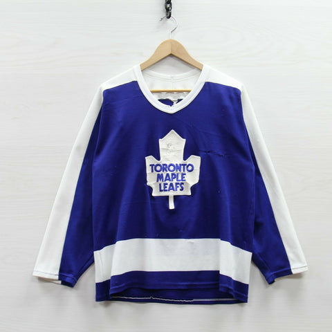 Vintage Peter Ing #1 Toronto Maple Leafs CCM Maska Jersey Medium 80s NHL Goalie