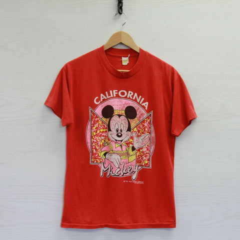 Vintage Mickey Mouse California Disney Velva Sheen 50/50 T-Shirt Large 80s 90s